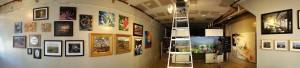 Recent pop-up gallery - photo by Eric Townsend Photography for Queen City Arts