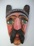 Carved and painted wood mask