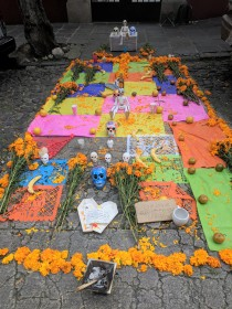 Community altar in San Angel